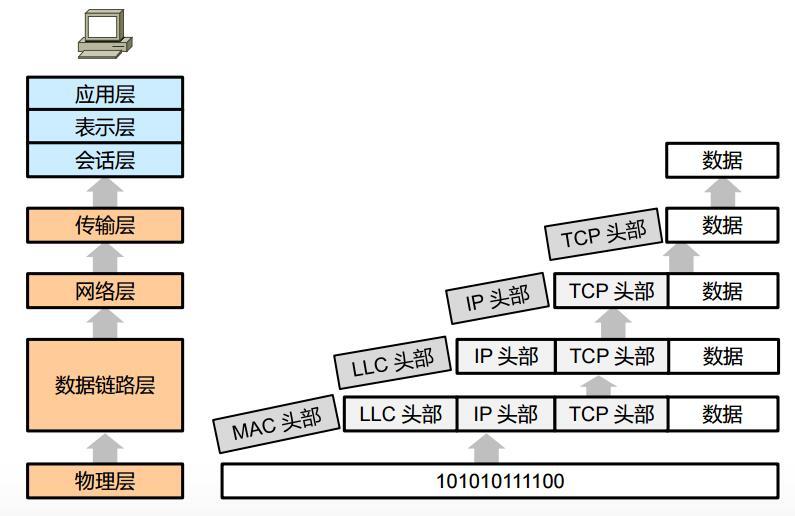 借助OSI模型理解数据传输过程(解封装过程)