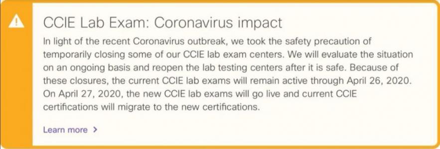 【重要通知】思科新版CCIE改期上线!!