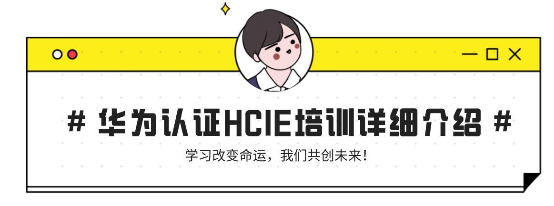 华为认证HCIE培训详细介绍