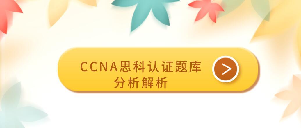 CCNA思科认证题库分析解析