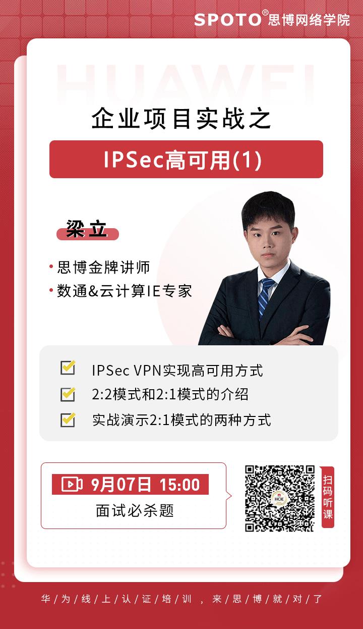 企业项目实战之-IPSec高可用(1)