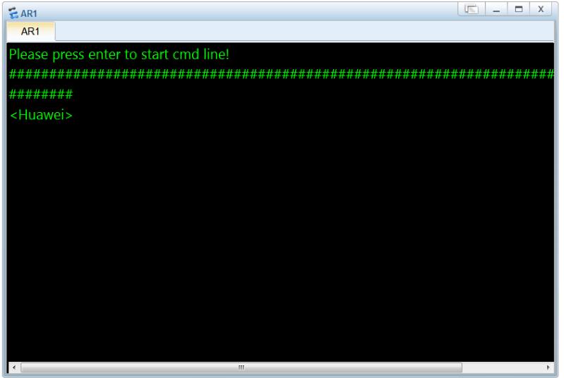 ensp设备开启操作界面