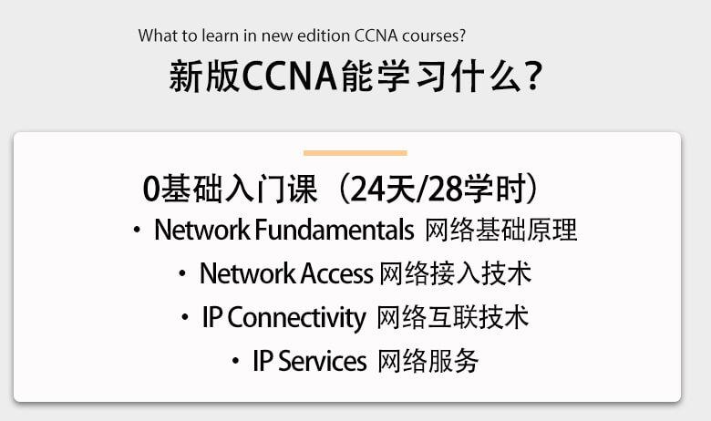 新版CCNA EI能学习到什么