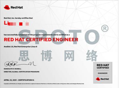 坐标4.23杭州~李同学(双满分)RHCE考试经验分享