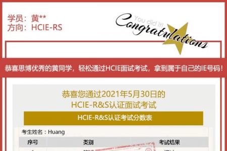 6年运维黄同学思博HCIE充电经验分享