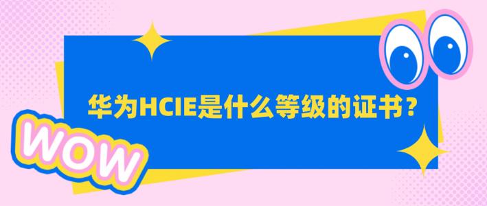 华为HCIE是什么等级的证书?