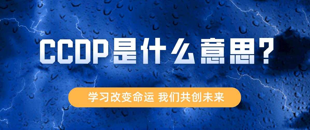 CCDP是什么意思?