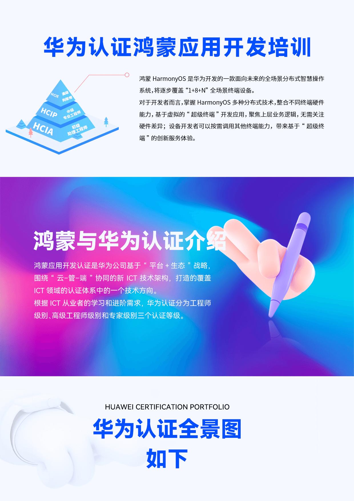 华为认证鸿蒙应用开发培训