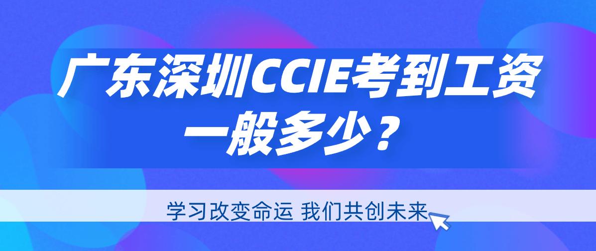 广东深圳CCIE考到工资一般多少?